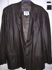 Remy Black Leather Sport Coat Size 46