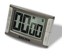 Kitchen Timer - Salter Large Display Contour Digital Cooks Timer Silver 396SVXR
