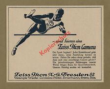 Reklame Zeiss Ikon Dresden Leichtathletik Hochspringer SC Charlottenburg 1927
