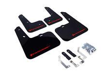 RallyArmor Black Mud Flaps (Red Logo) for 12-16 Hyundai Veloster