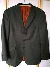 Ben Sherman suit jacket 44 mens dark grey pinstripe 3 button 13
