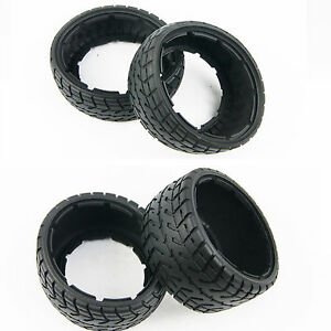 Front And Rear On-Road Tire Kit for 1/5 HPI Baja 5B SS Rovan KM