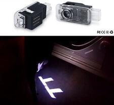 2X Led Door Light Projector Logo Welcome Courtesy Emblem For AUDI TT 2008-2017