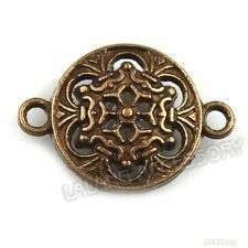 50x141330 Alloy Round Flower Connectors Bronze Pendants Charms 23x16mm Findings