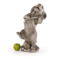 Steinfiguren Hund Geige Musiker Tierfiguren Gartenfiguren Skulpturen Deko 462883