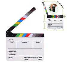Clapboard Acrylic Dry Erase Director Film Movie Clapper Board Slate Color Sticks
