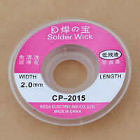2.5ft 2.0 mm Desoldering Braid Solder Remover Wick Copper Spool Wire 0.75m VB