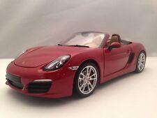 Minichamps 2012 Porsche Boxster S (981) Red w/ Tan Interior Diecast Model 1/18