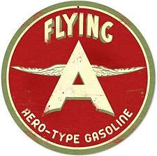 Flying A AERO-Type Benzina In Acciaio Rotondi Diametro 360mm segno (PST)