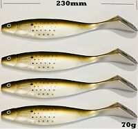 "4 x 9"" Soft Plastics Big Paddle Tail Swimbait Fishing Lures Jewfish Snapper"
