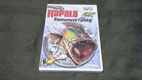 RAPALA TOURNAMENT FISHING (Nintendo Wii, 2006) USA SELLER!!