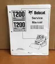 Bobcat T200 Track Loader Service Manual Shop Repair Book Part # 6901397