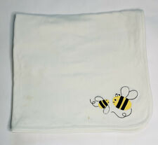 Gymboree Baby Blanket Security Lovey Cotton Bees White