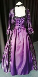 """Purple Georgian style costume. 42"""" bust.  Good for panto or period plays & shows"""