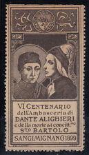 ERINNOFILO VI CENTENARIO DELL'AMBASCERIA D ALIGHIERI - SANGIMIGNANO 1899 MARRONE
