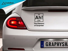 AH Element Of Surprise Car Decal Chemistry Chemical Molecule Science Sticker