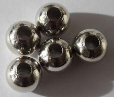 Modeschmuck 10 Metallperle Legierung Perle 12 mm Farbe silber Kettenperlen Kugel