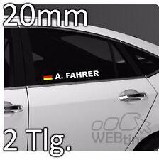 20mm Motorsport Racing Wunschname DTM Flagge Aufkleber Sticker Emblem Rallye