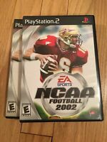 EA SPORTS NCAA FOOTBALL 2002 - PS2 - COMPLETE W/MANUAL - FREE S/H (X)