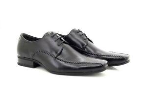 Mens TJTJ Black Handmade Square Toe Lace Shoes