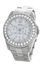 Guess Women's Stainless Steel White Dial Watch u11052l1