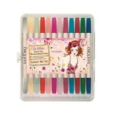 Santoro Willow Colour Me in dual tip Aquarelle Stylos Lot de 12