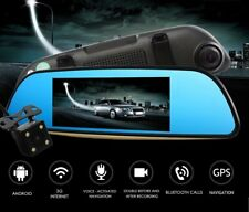 "7"" 1080P Car DVR Rearview Mirror Camera Quad Core Android 5.0 Bluetooth Wifi GPS"