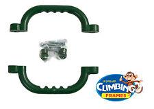 Verde Empuñaduras Manijas de agarre (juego de 2) Marco de escalada Playhouse árbol House Den
