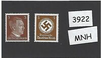 MNH Adolph Hitler & WWII Symbol stamps PF03 / Third Reich Germany 1941 & 1942