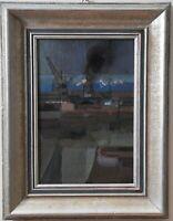 Alfréd Réth (1884-1966), Hungarian, Port, oil on canvas