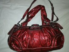Guess Ladies Red Leather Large Bag.