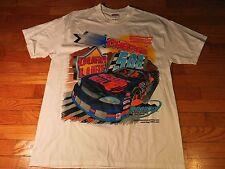 VTG 1999 Dura Lube 500 Nascar White Graphic T Shirt Men's Large