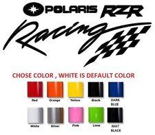 (#322) 2 X  POLARIS RZR RACING TEAM X STICKER DECAL EMBLEM