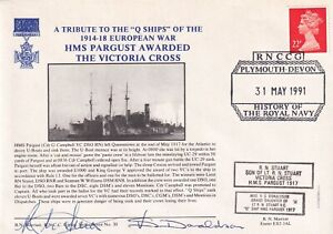 HMS Pargust Awarded the Victoria Cross Double Signed