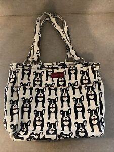 Bungalow 360 Pocket Handbag Boston Terrier Canvas Dog