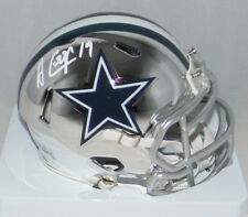 AMARI COOPER SIGNED AUTOGRAPHED DALLAS COWBOYS CHROME SPEED MINI HELMET JSA