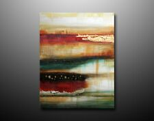 90X60cm Abstract Handmade Oil Painting Red Green Canvas Wall Art Framed