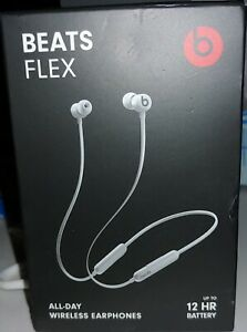 Beat Flex all day wireless earphones 12 hour battery Gray blue lime