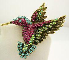"Joan Rivers Pave Hummingbird Brooch  2"""