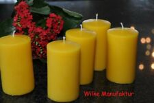Pillar Candles Cast 100 Bees Wax 115 Mm X 65 Mm Burning Time 40 - 50 HR Five Candles