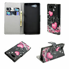 Pocket Wallet Leather Cover Case Skin Stand For Sony Xperia Z3 Mini Compact