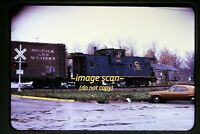 1973 C&O Chesapeake and Ohio Caboose #3166 at Holly Michigan N&W, Org Slide c23a