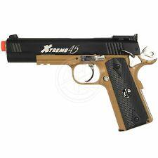 G&G Two Tone Xtreme 45 1911 CO2 Blowback Polymer Airsoft Pistol Tan & Black