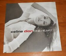 Celine Dion One Heart Poster 2-Sided Flat Square Promo 2003 12x12