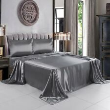 Lither Satin Sheets Set, Fitted Flat Sheet, Silky and Breathable Luxury Bed Sets