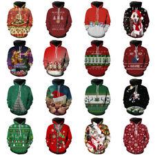 CHRISTMAS SWEATER Vacation Santa Elf Snowman Funny Womens Men Sweatshirt Hoodie