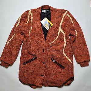 NWT Vintage Dead Stock Jamie Sadock Golf Sweater Jacket Women's SMALL Aztec #1