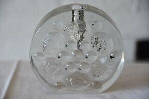 Kleine Glas Vase, Zweigvase, Blockvase, Noppenvase, 70er Jahre