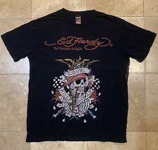 Mens Ed Hardy LOVE KILLS SLOWLY Black Short Sleeve Tee T Shirt SZ Large