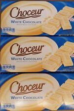 3 X Choceur German White Chocolate Bars. 3 Pack, 1/2 lb Bars
